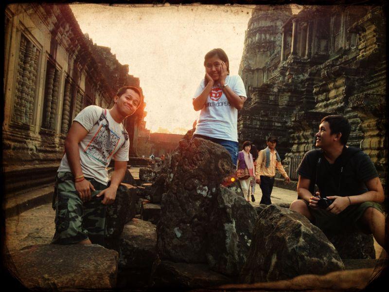 Narsis didalam Angkor Wat. Cute eh? =))